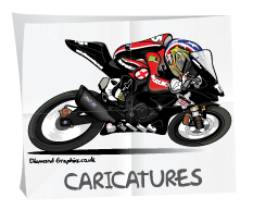 Caricatures drawing by Crunch Designs