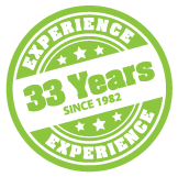 33 Years Experience